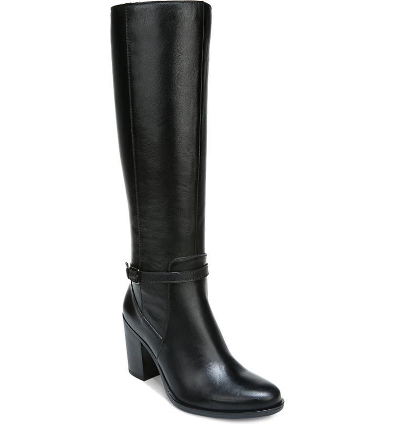 NATURALIZER Kalina Boot, Main, color, BLACK LEATHER