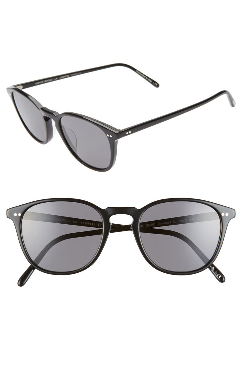 Oliver Peoples Forman L A 51mm Polarized Round Sunglasses