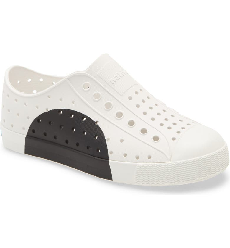 NATIVE SHOES 'Jefferson' Water Friendly Slip-On Sneaker, Main, color, JIFFY CIRCLE/ SHELL WHITE