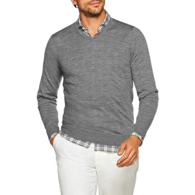 Suitsupply Slim Fit V-Neck Merino Wool Sweater