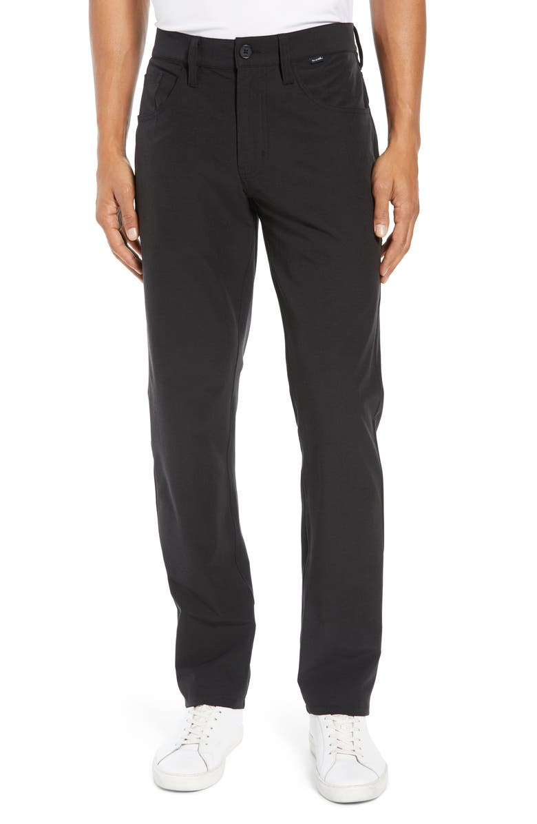 TRAVISMATHEW Beckladdium Straight Leg Performance Pants, Main, color, BLACK
