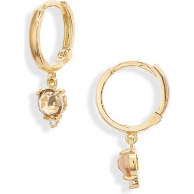 Nordstrom Crystal Charm Huggie Earrings
