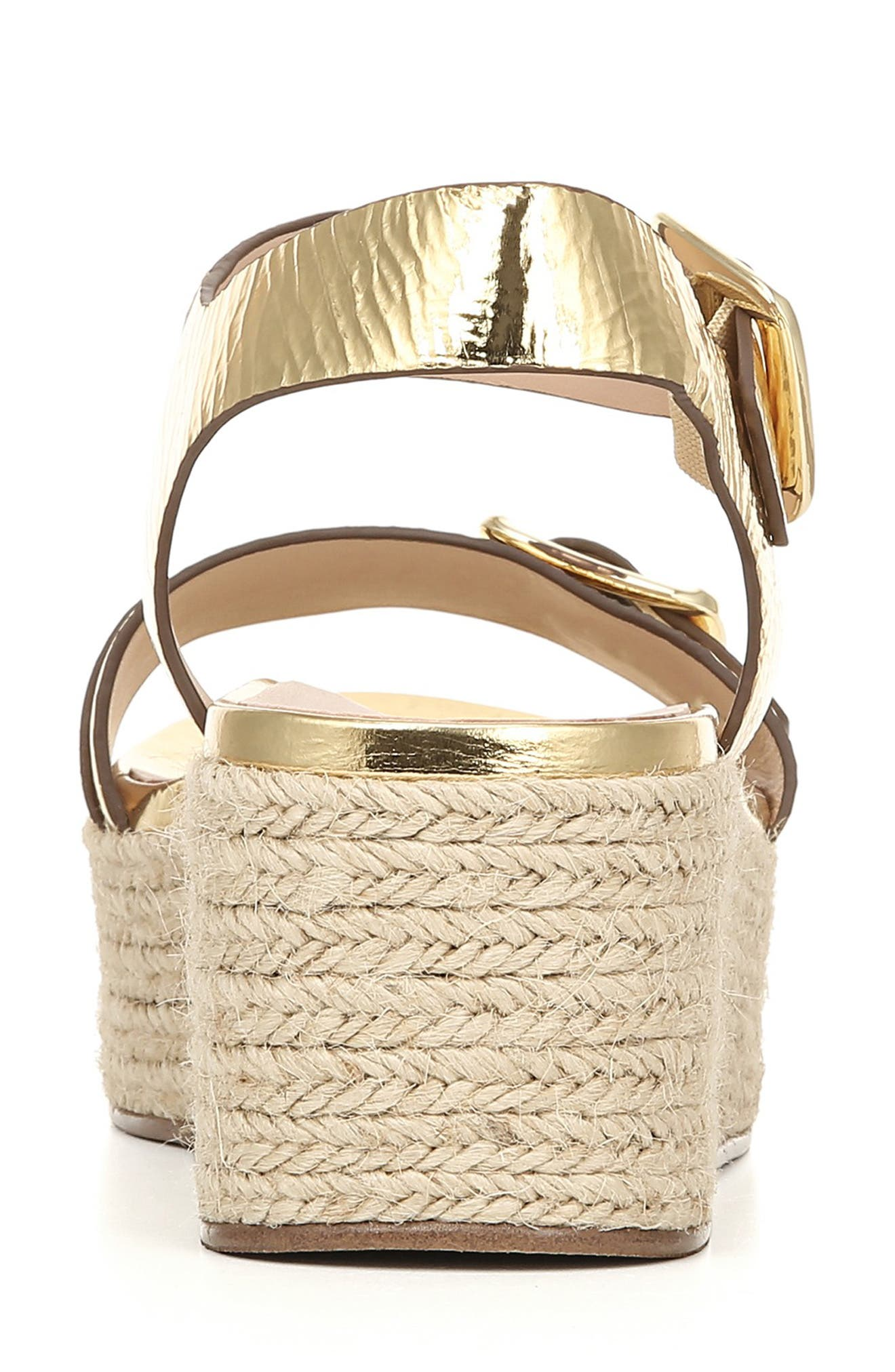 ,                             Jovana Espadrille Platform Sandal,                             Alternate thumbnail 8, color,                             GOLD LEATHER
