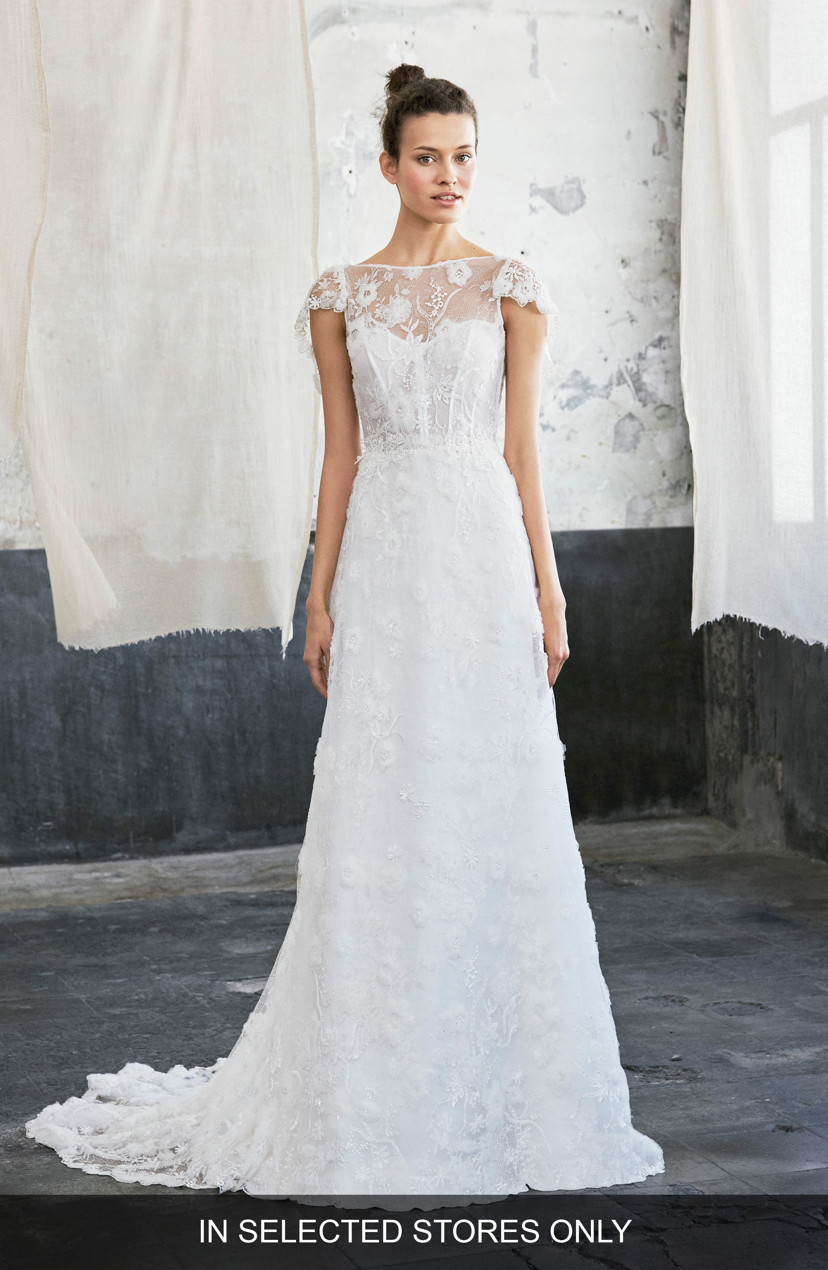 Inmaculada Garcia Colima Embroidered Lace Gown, Size IN STORE ONLY - Ivory