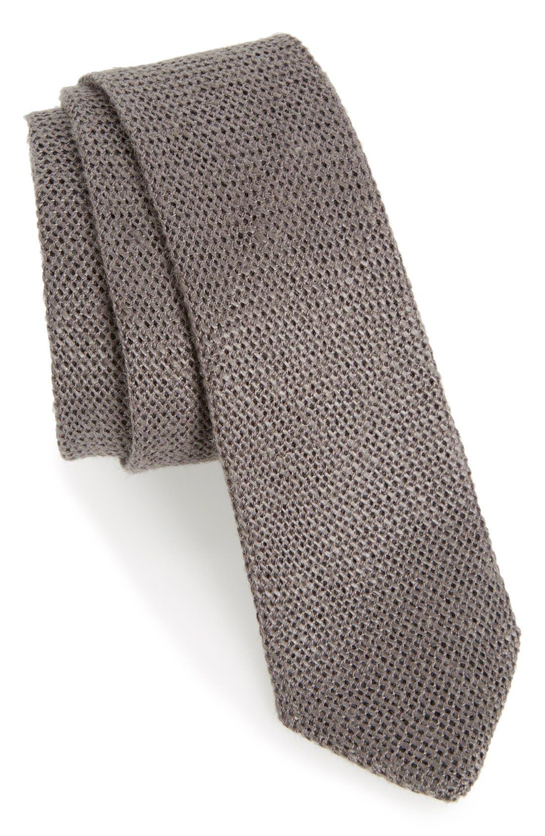 ,                             Knit Linen Tie,                             Main thumbnail 3, color,                             020
