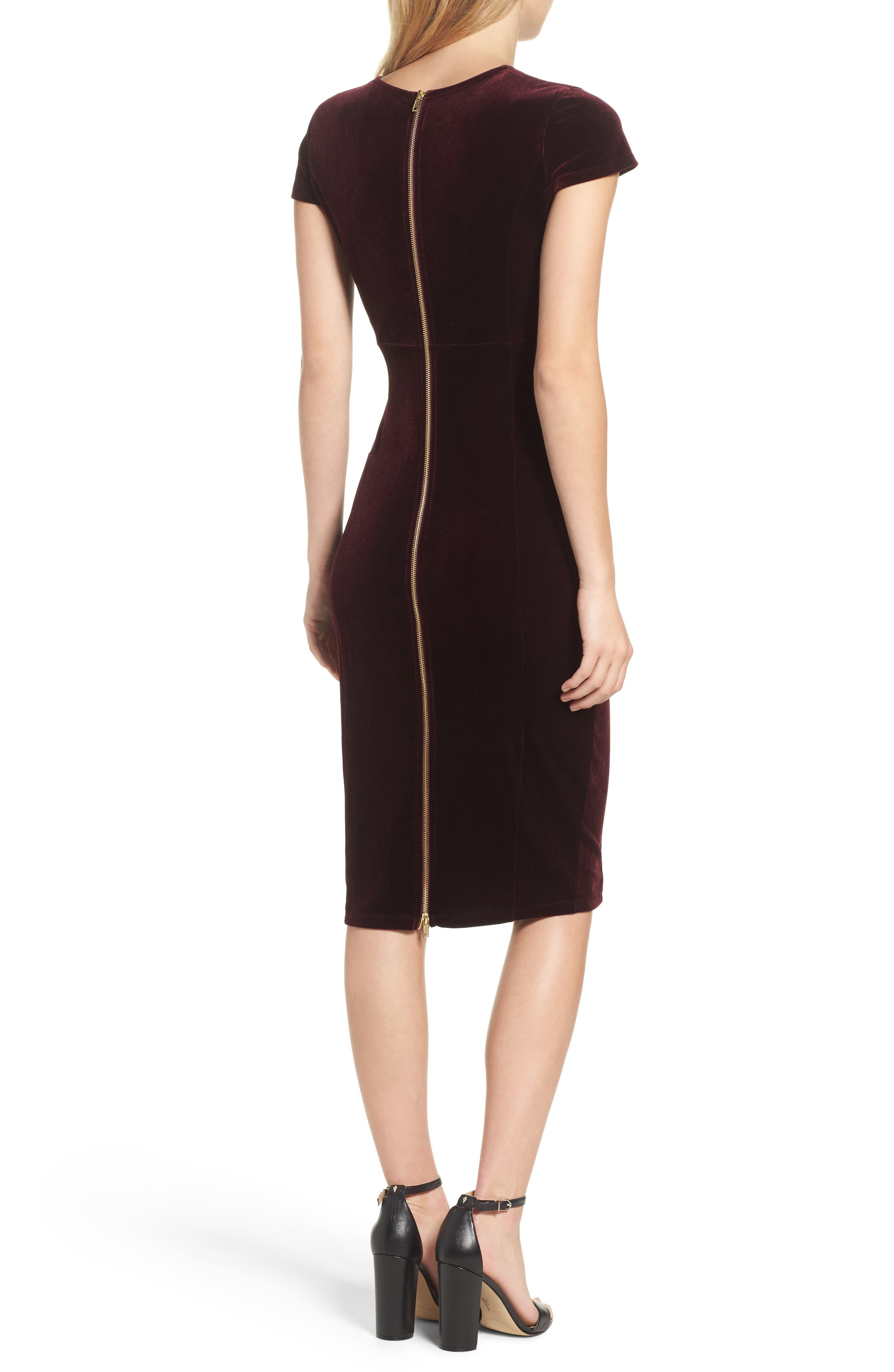 ,                             Vista Velvet Midi Dress,                             Alternate thumbnail 8, color,                             935