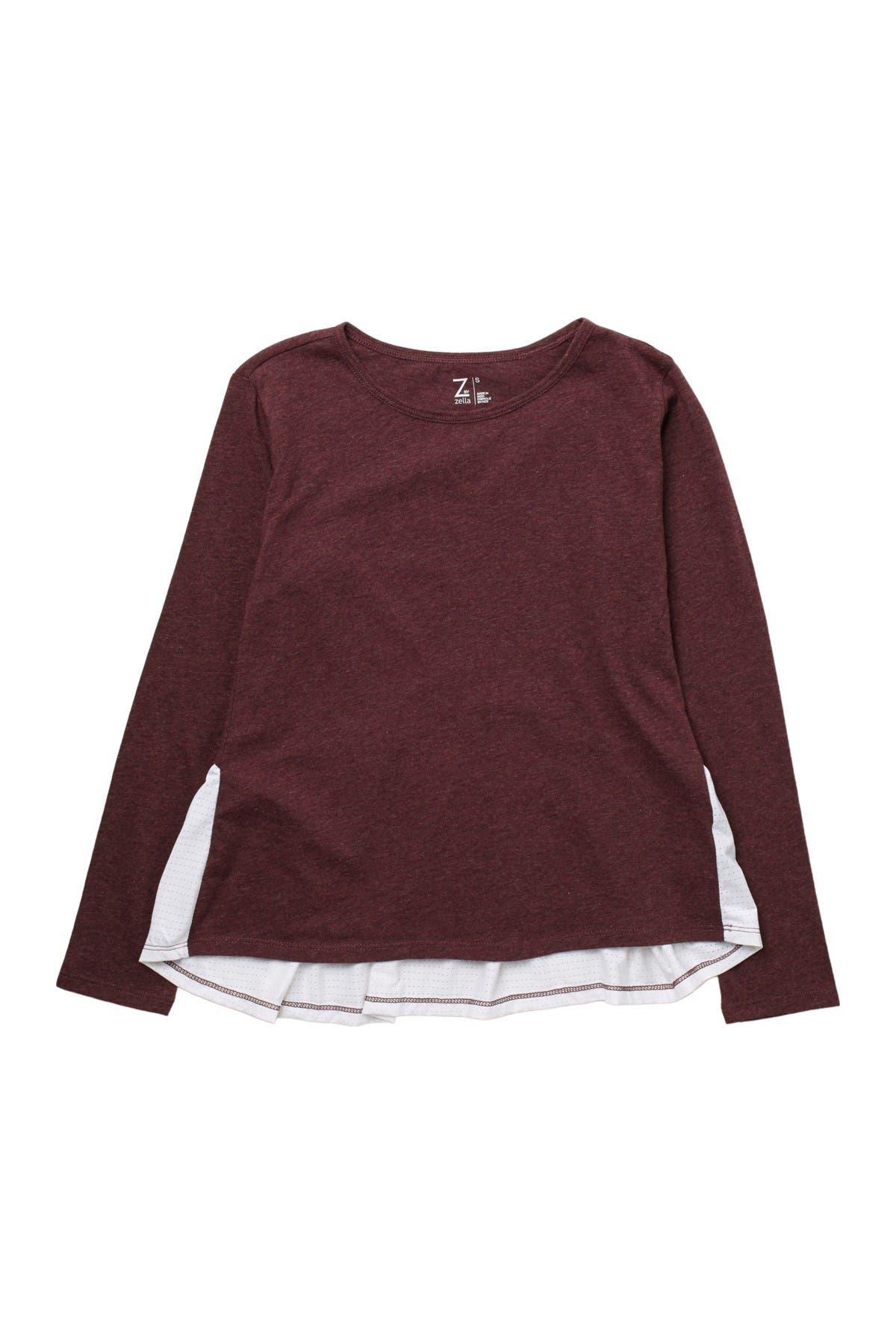Image of Z by Zella Girl Flow Mesh Long Sleeve Shirt