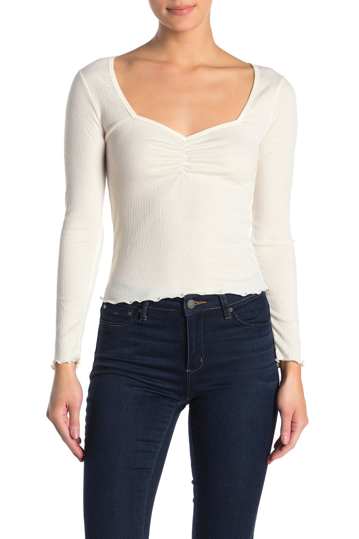 Image of Abound Long Sleeve Front Cinched Top