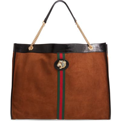 Gucci Maxisuede Tote - Brown