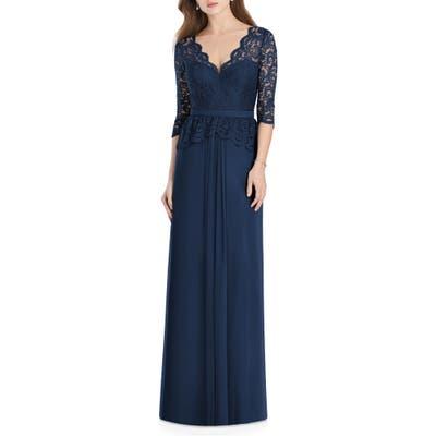 Jenny Packham Lux Chiffon Gown, Blue