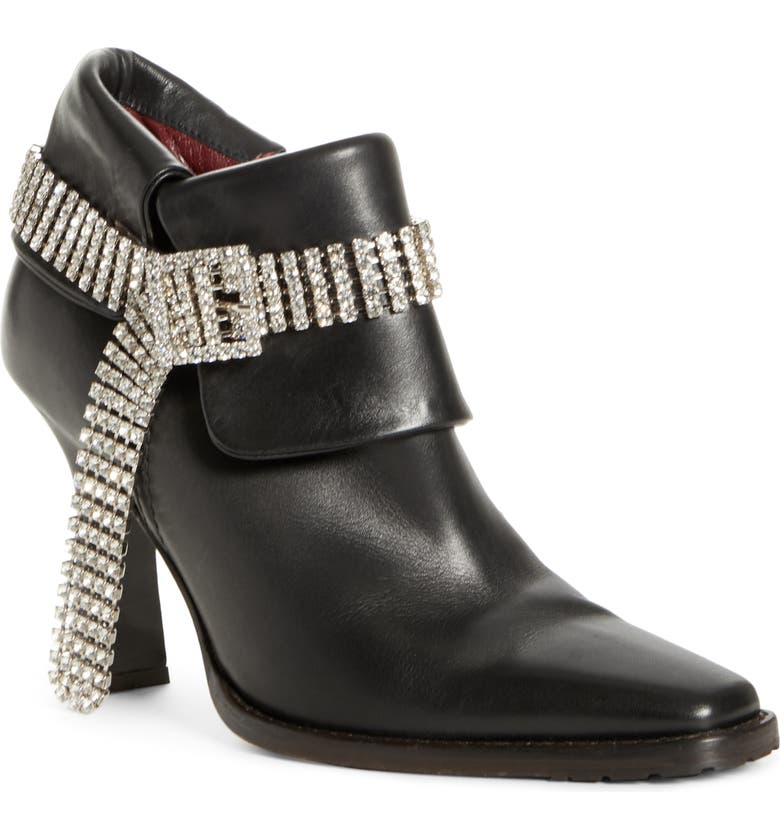 SIES MARJAN Niki Crystal Embellished Bootie, Main, color, BLACK