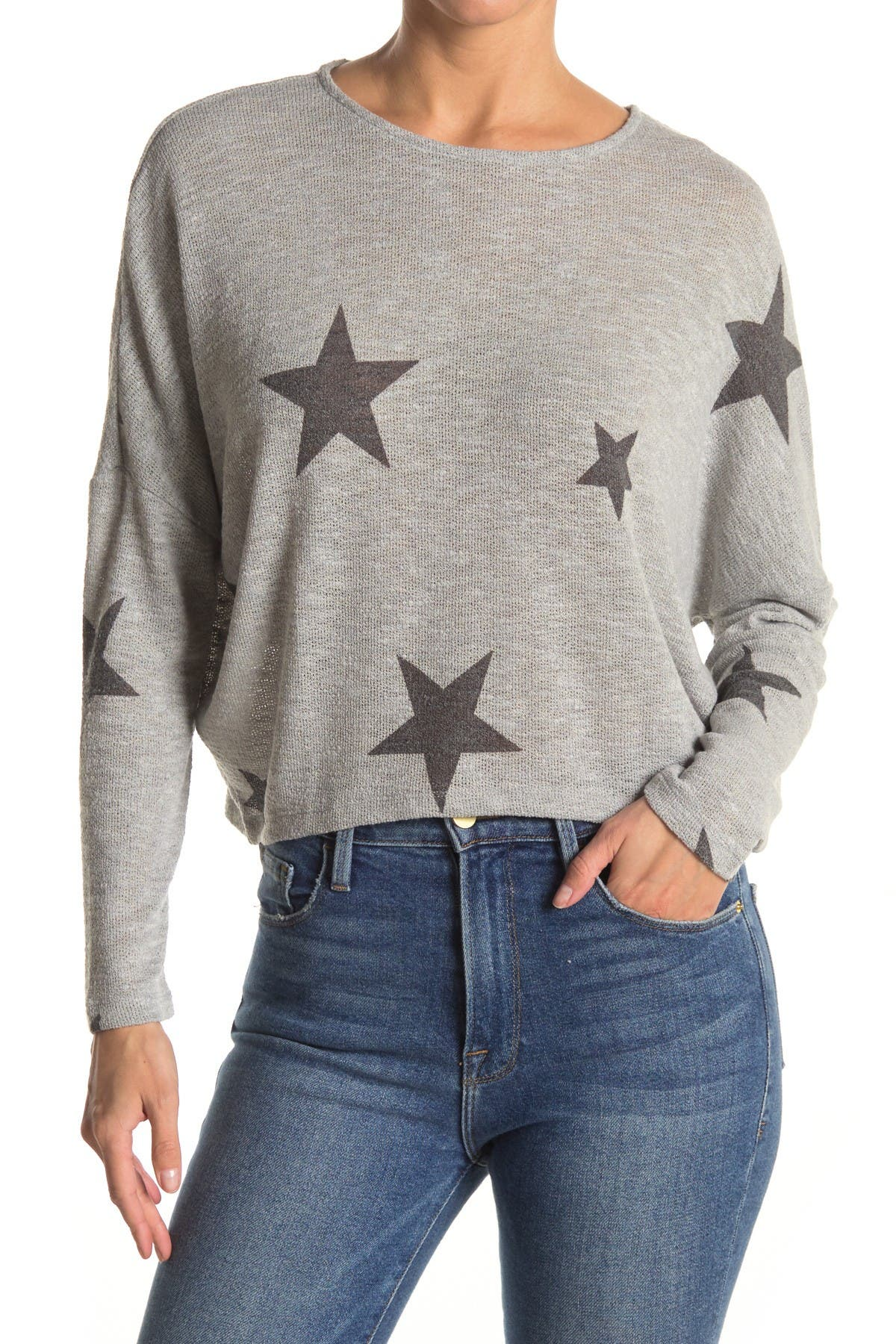 Image of GOOD LUCK GEM Star Print Dolman Pullover