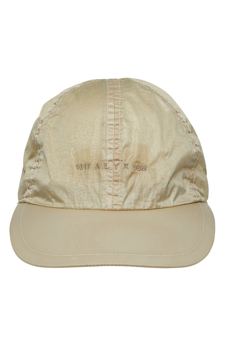 1017 ALYX 9SM Buckle Logo Embroidered Baseball Cap, Main, color, BEIGE