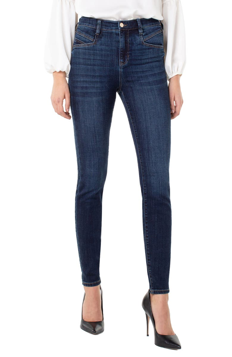LIVERPOOL Abby High Waist Skinny Jeans, Main, color, OCALA