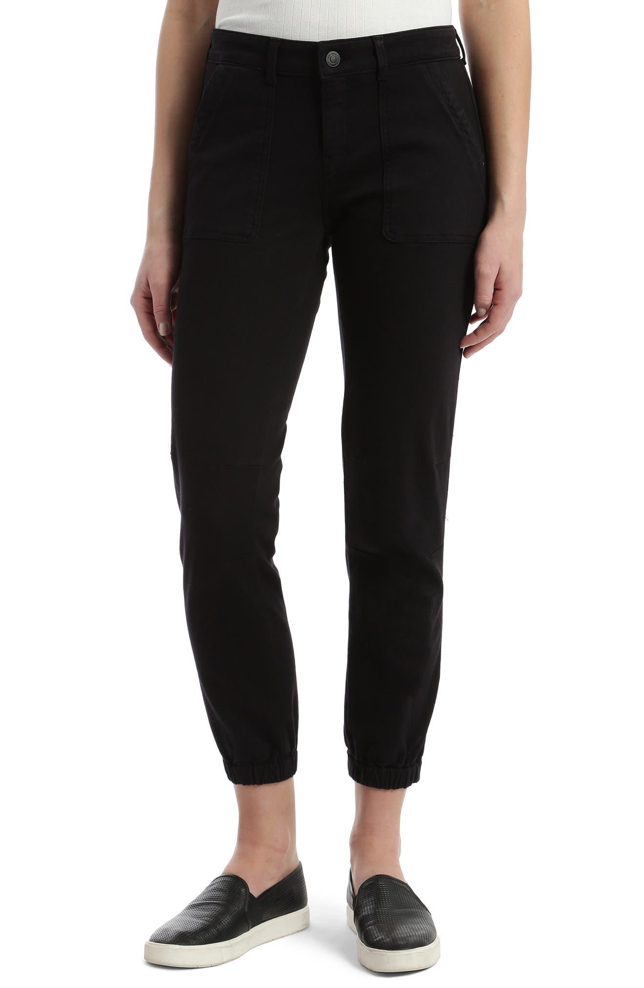 Ivy Zip Cuff Twill Jogger Pants