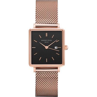 Rosefield The Boxy Mesh Strap Watch, 2m X 2m