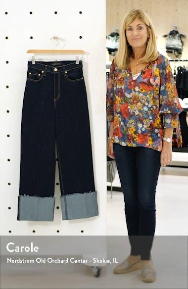 Milla Cuffed Hem Wide Leg Crop Jeans, sales video thumbnail