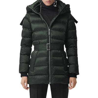 Burberry Limehouse Quilted Down Puffer Coat, Green