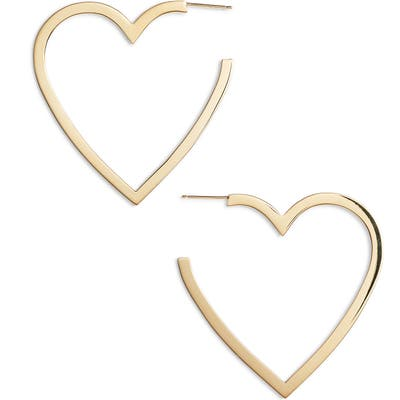 Jennifer Zeuner Larissa Medium Open Heart Earrings