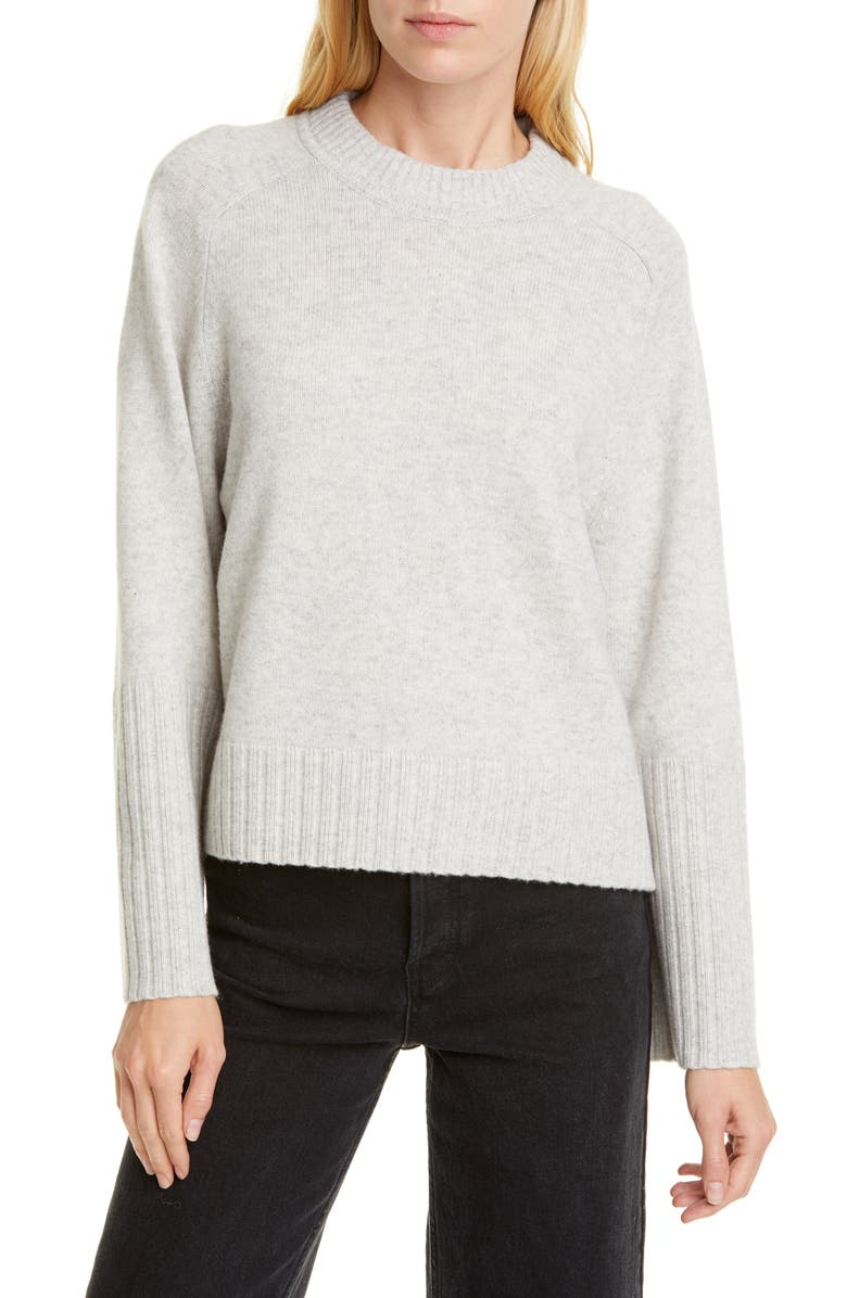 ALLUDE Wool & Cashmere Sweater, Main, color, GREY