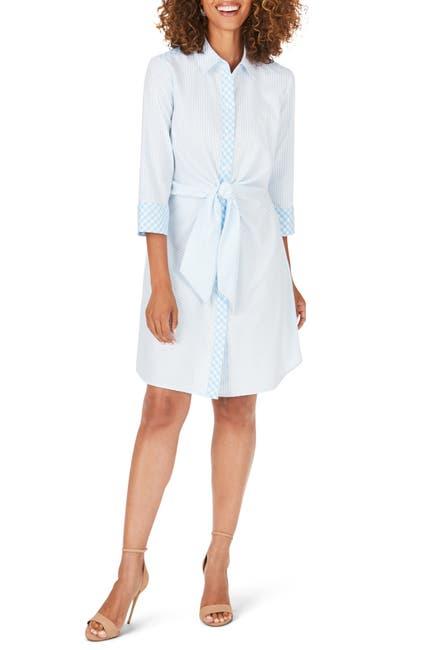 Image of FOXCROFT Melbourne Non-Iron Wrap Tie Dress