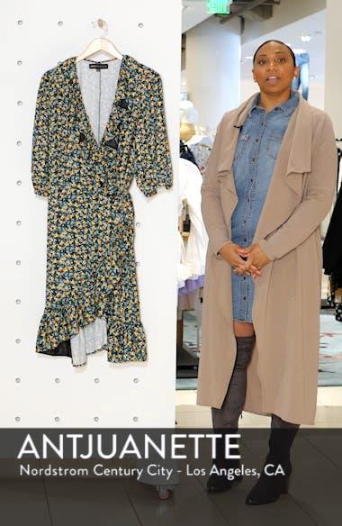 Jason Wu x ELOQUII Floral Print Ruffle Trim Wrap Dress, sales video thumbnail