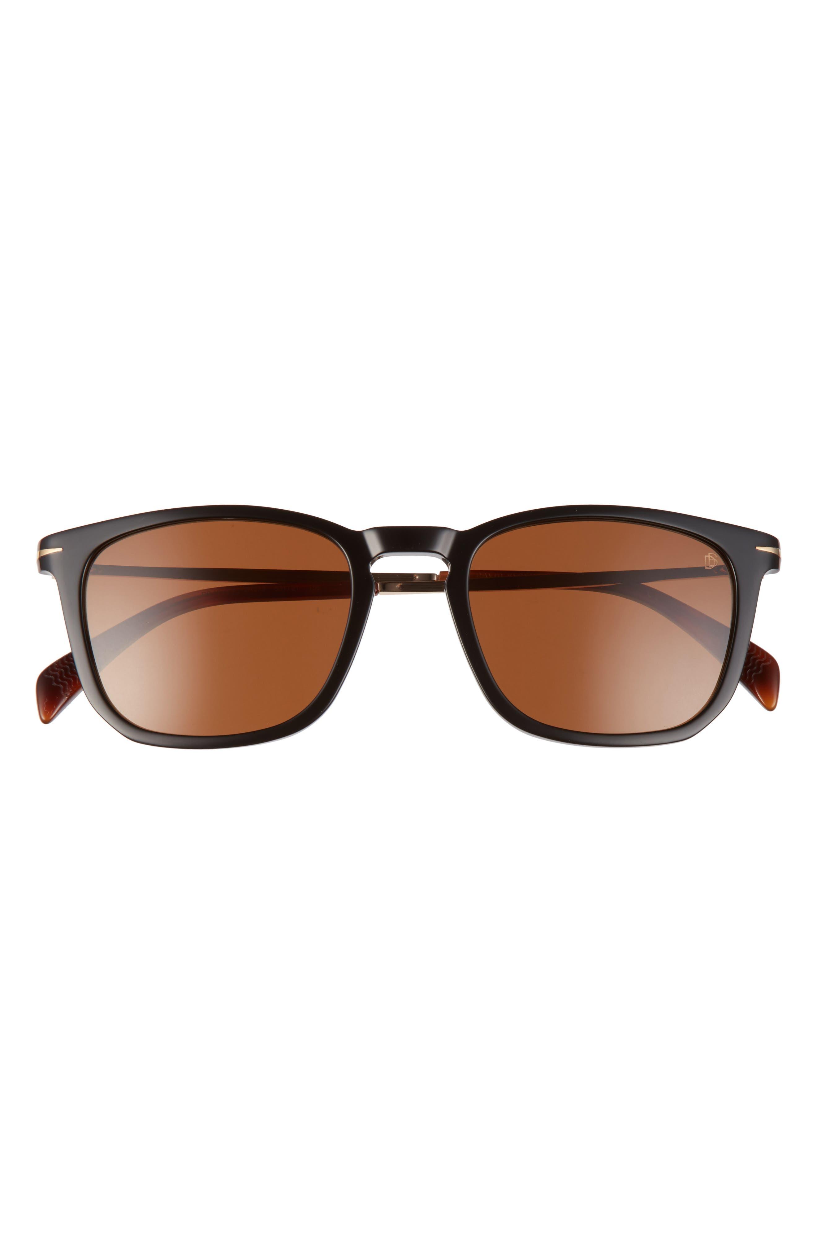 Men's Eyewear By David Beckham 53mm Rectangular Sunglasses
