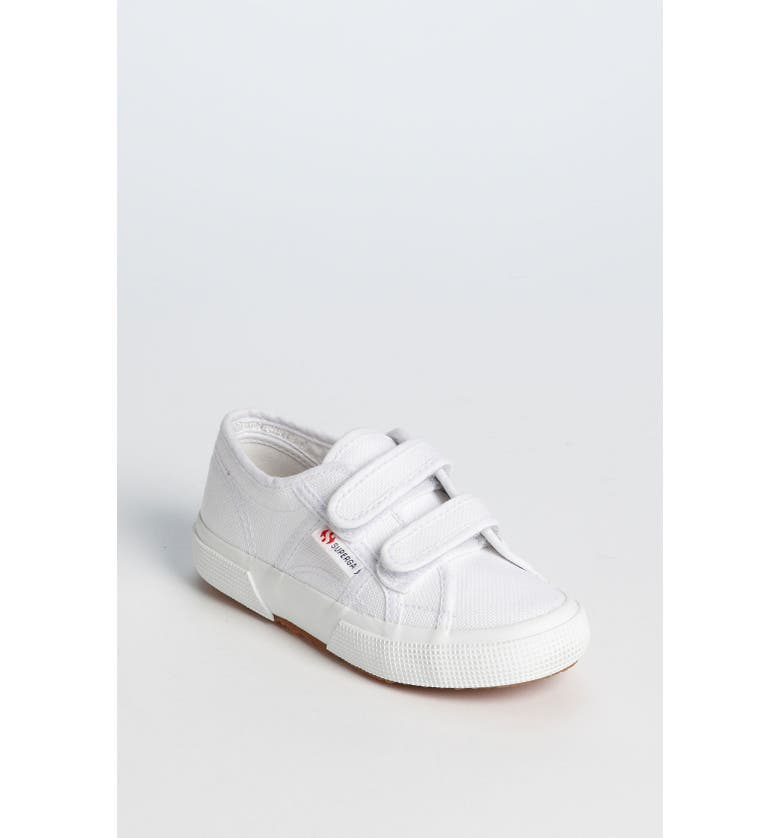 SUPERGA 'Junior Classic' Sneaker, Main, color, WHITE