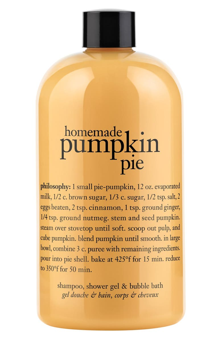 PHILOSOPHY 'homemade pumpkin pie' shampoo, shower gel & bubble bath, Main, color, 000