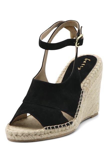 Image of Bettye Muller Venice Suede Espadrille Wedge Sandal