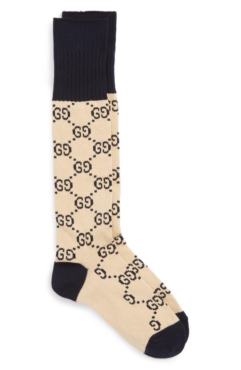 GUCCI GG Socks, Main, color, 131