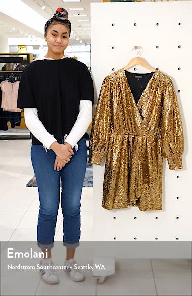Long Sleeve Sequin Cocktail Dress, sales video thumbnail