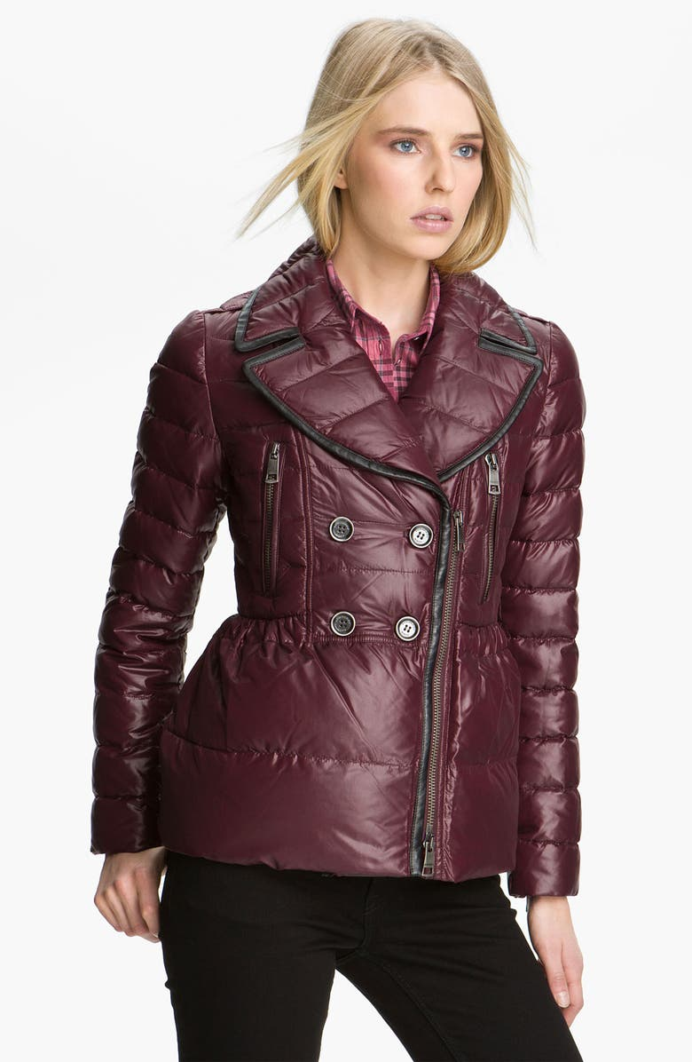 BURBERRY BRIT Quilted Down Puffer Jacket, Main, color, 600