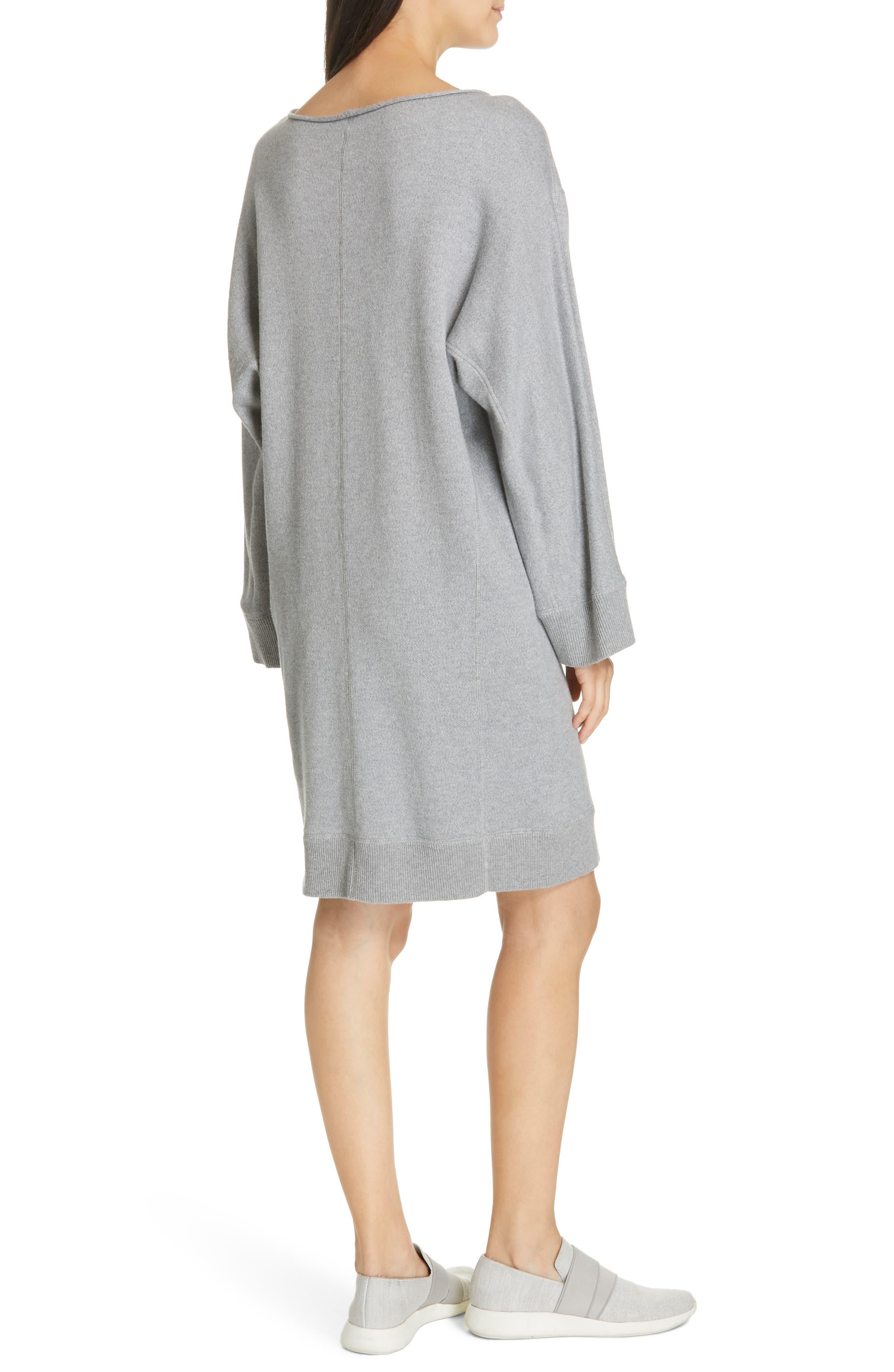 ,                             Cotton Terry Shift Dress,                             Alternate thumbnail 2, color,                             H STEEL