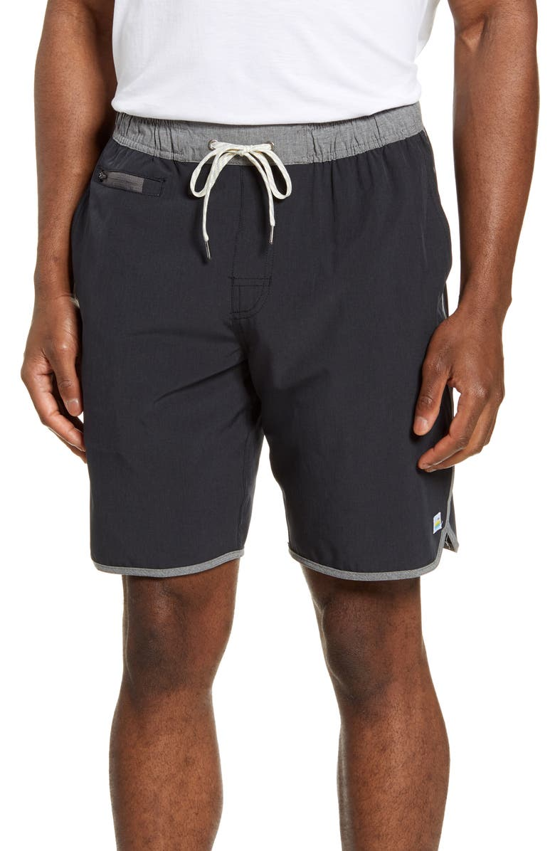 VUORI Banks Performance Shorts, Main, color, BLACK LINEN TEXTURE