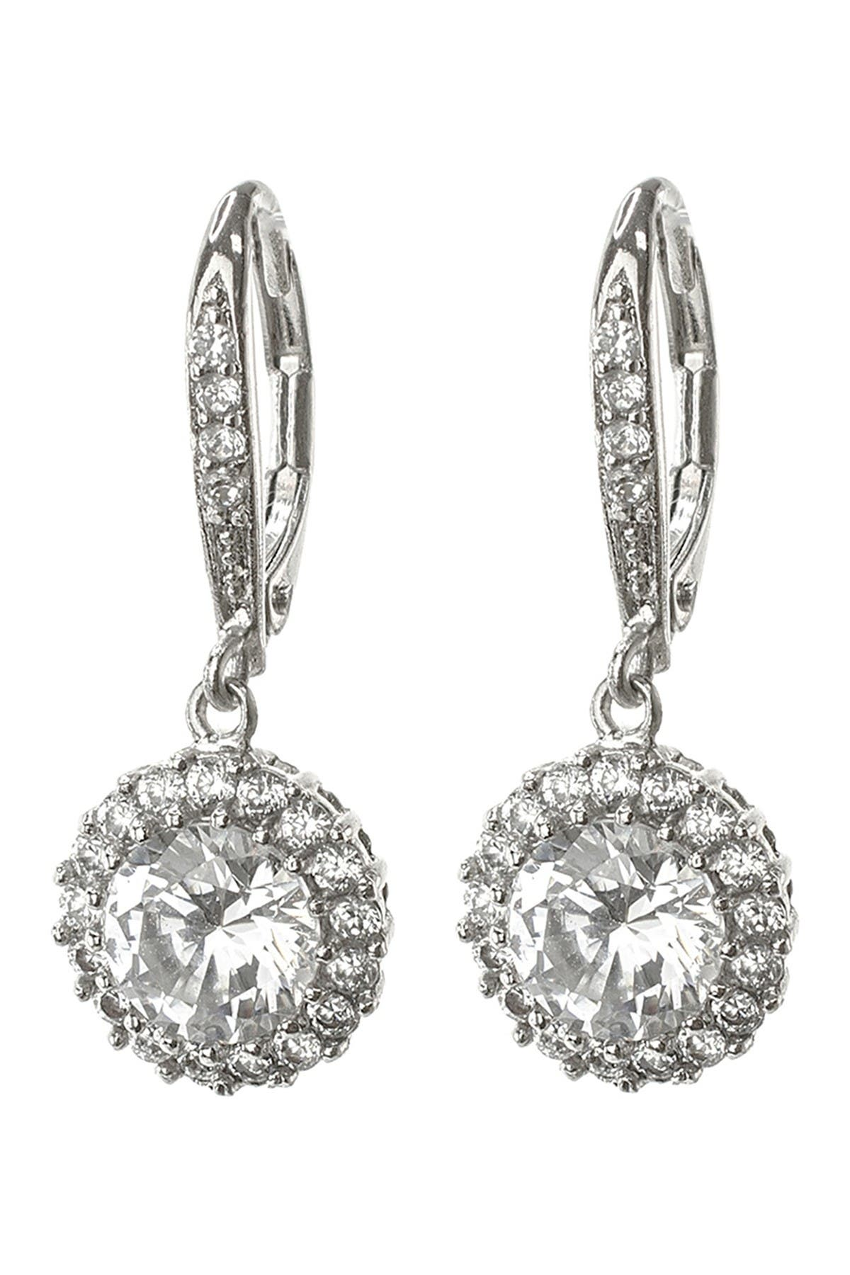 Image of CZ By Kenneth Jay Lane CZ Round Drop Earrings