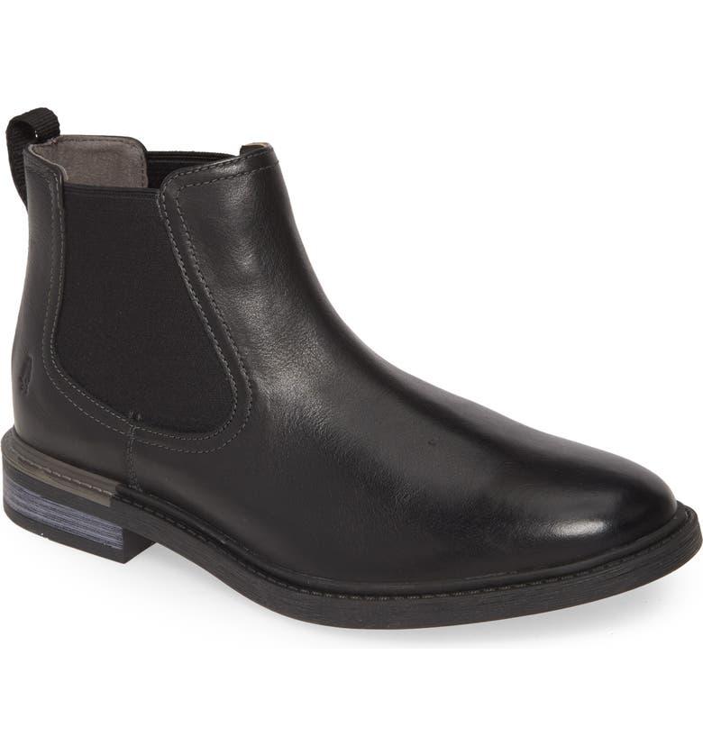 HUSH PUPPIES<SUP>®</SUP> Davis Chelsea Boot, Main, color, BLACK LEATHER