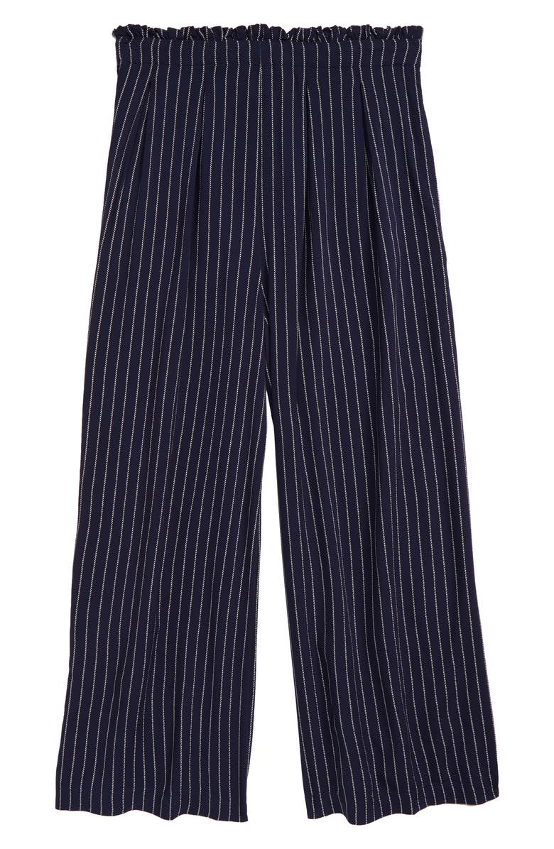 TREASURE & BOND Print Paperbag Waist Pants, Main, color, NAVY IRIS- WHITE STRIPE