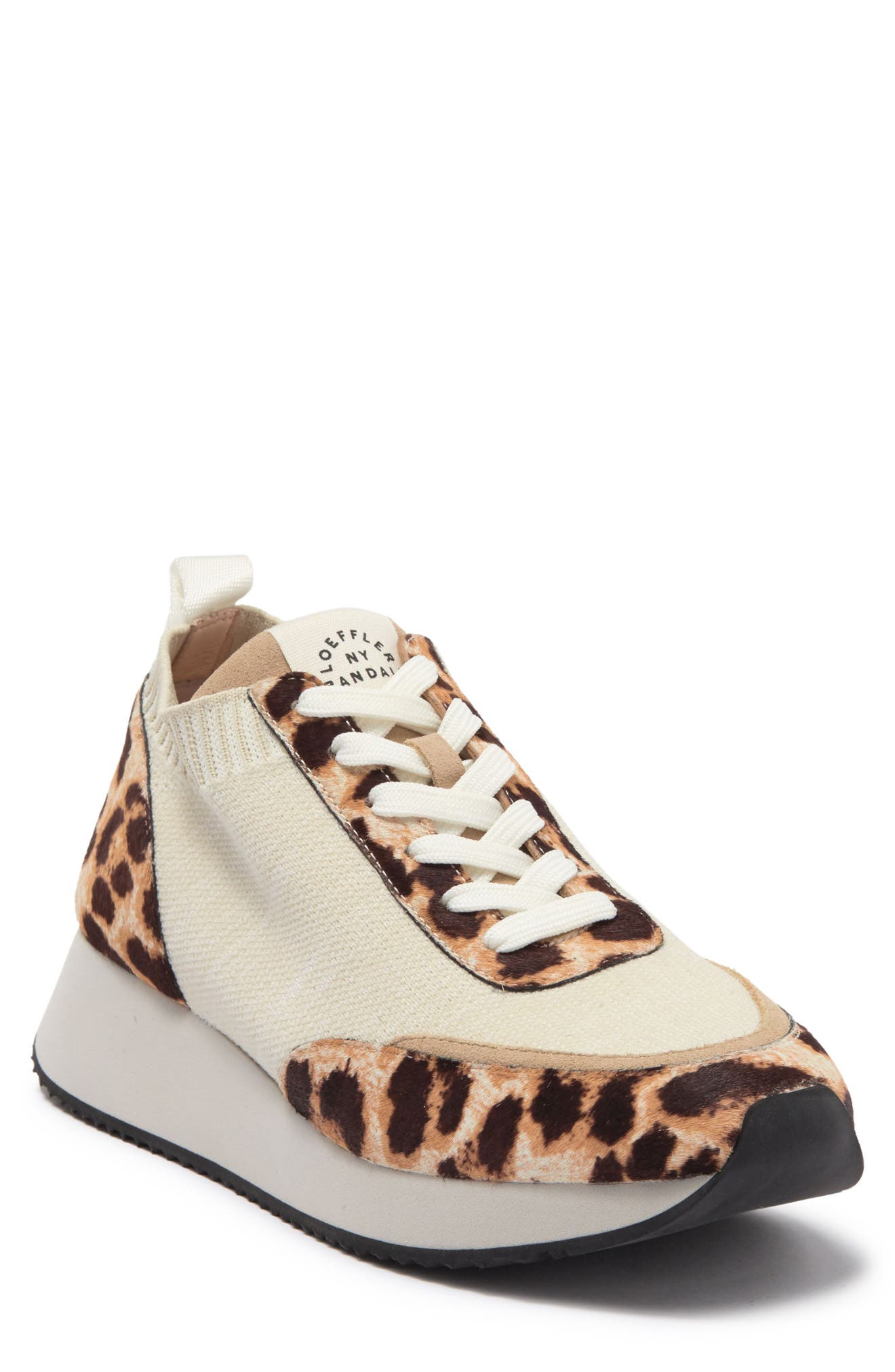 Image of LOEFFLER RANDALL Remi Genuine Calf Hair Detail Sneaker