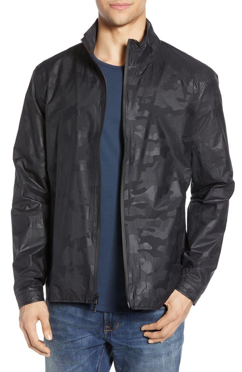 JOHN VARVATOS STAR USA Robb Camo Print Jacket, Main, color, 001