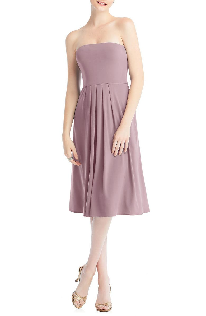 DESSY COLLECTION Multi-Way Loop Fit & Flare Dress, Main, color, DUSTY ROSE