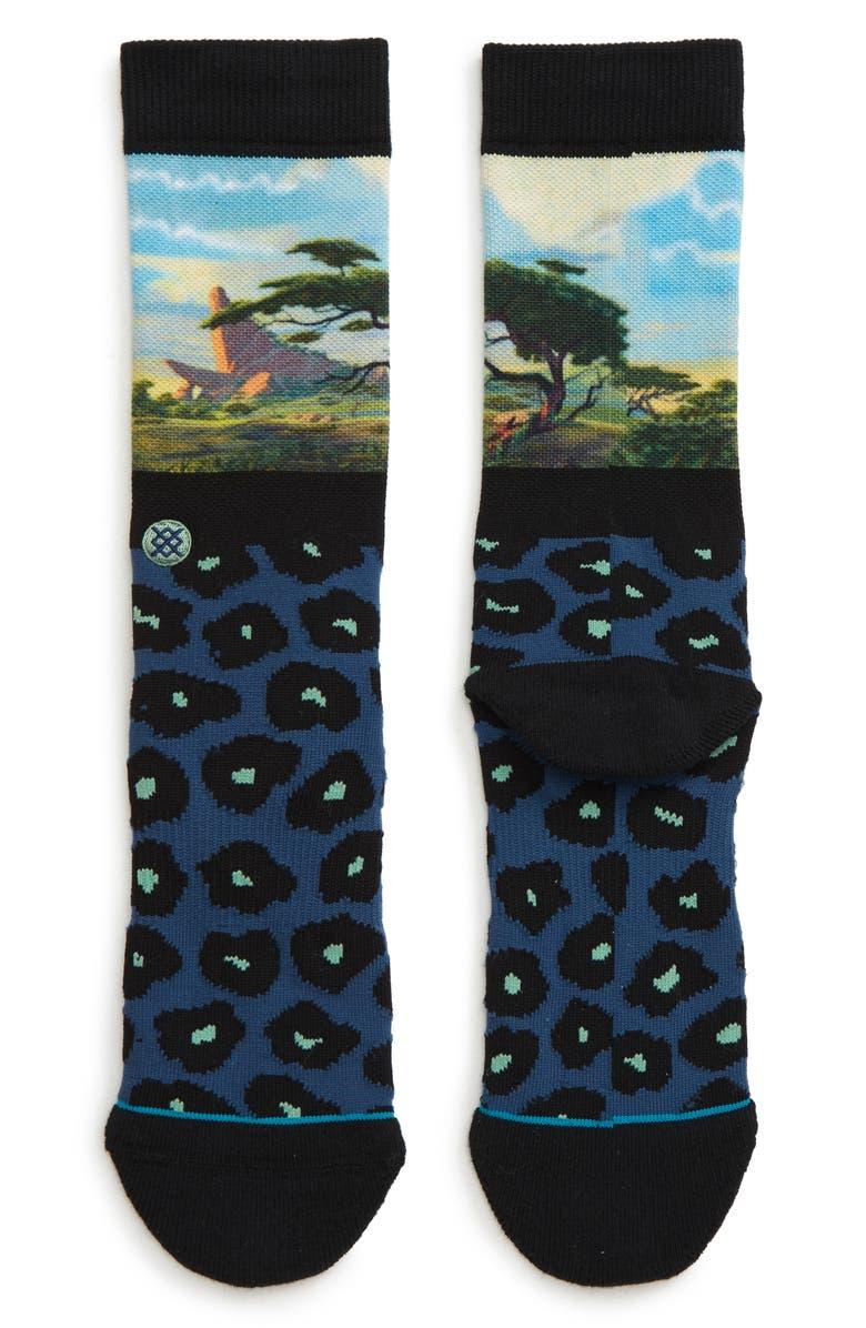 STANCE Disney Pride Rock Socks, Main, color, BLACK