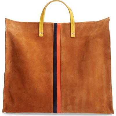 Clare V. Simple Leather Tote - Brown