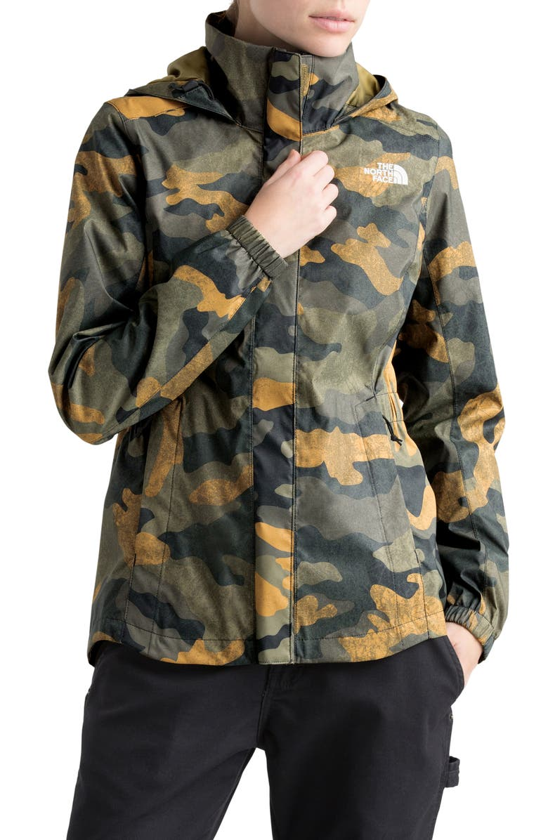 THE NORTH FACE Resolve II Hooded Waterproof/Windproof Parka, Main, color, BURNT OLIVE