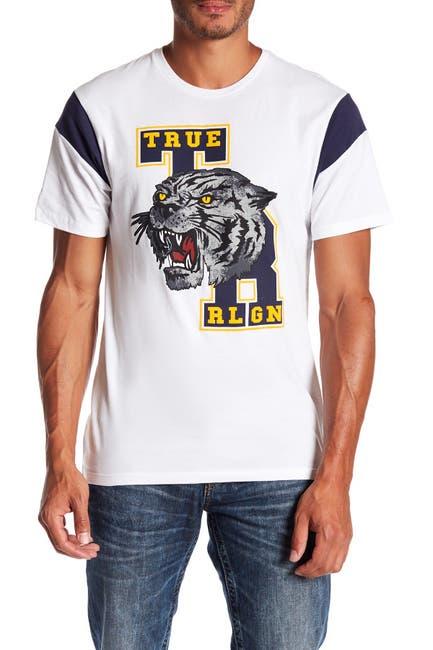 Image of True Religion Short Sleeve School Tiger Football Tee