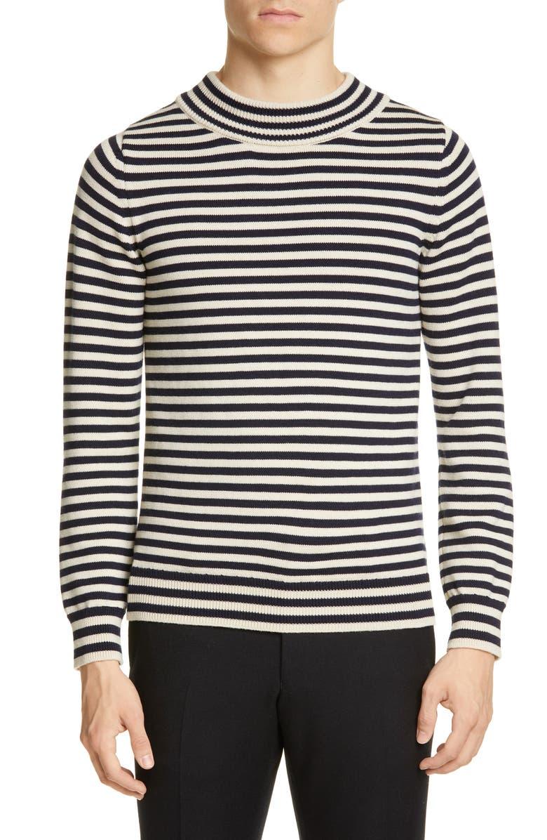DRIES VAN NOTEN Stripe Sweater, Main, color, ECRU