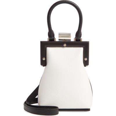 Perrin Le Mini Leather Top Handle Bag - Black