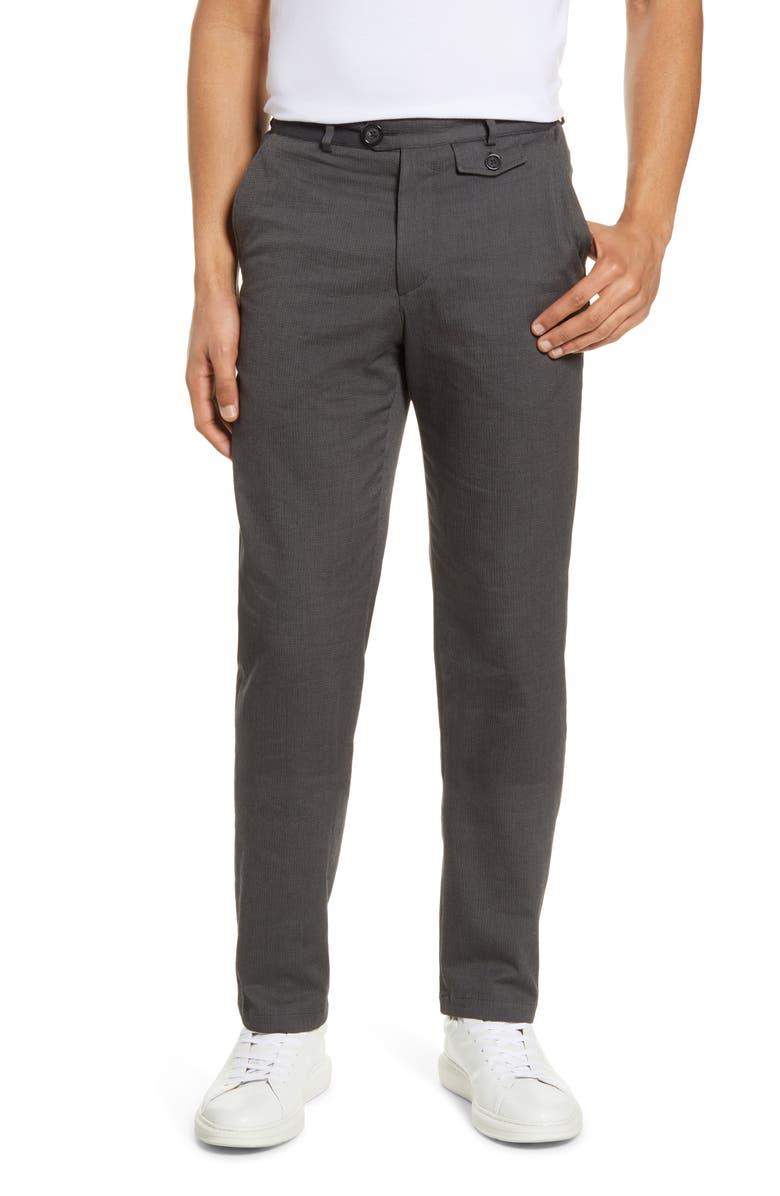 OLIVER SPENCER Herringbone Slim Pants, Main, color, 020