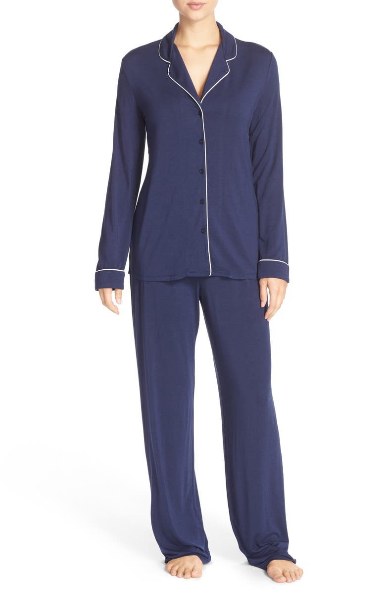 NORDSTROM LINGERIE Moonlight Pajamas, Main, color, NAVY PEACOAT