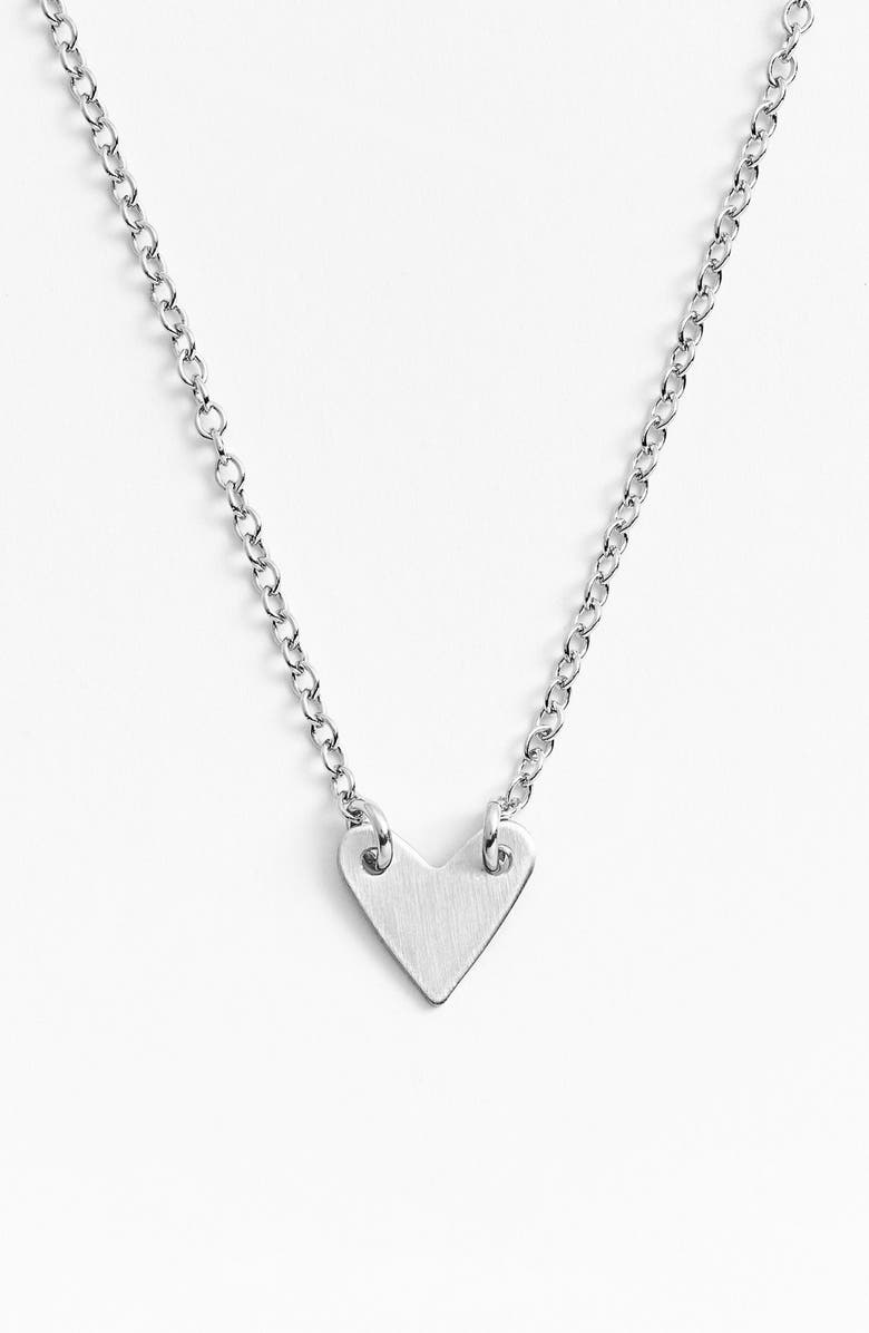 NASHELLE Heart Necklace, Main, color, STERLING SILVER